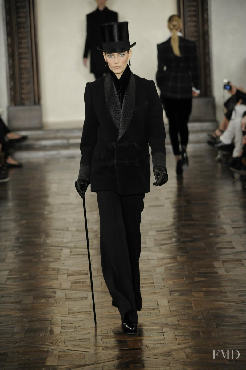 Zuzanna Bijoch featured in  the Ralph Lauren Collection fashion show for Autumn/Winter 2012
