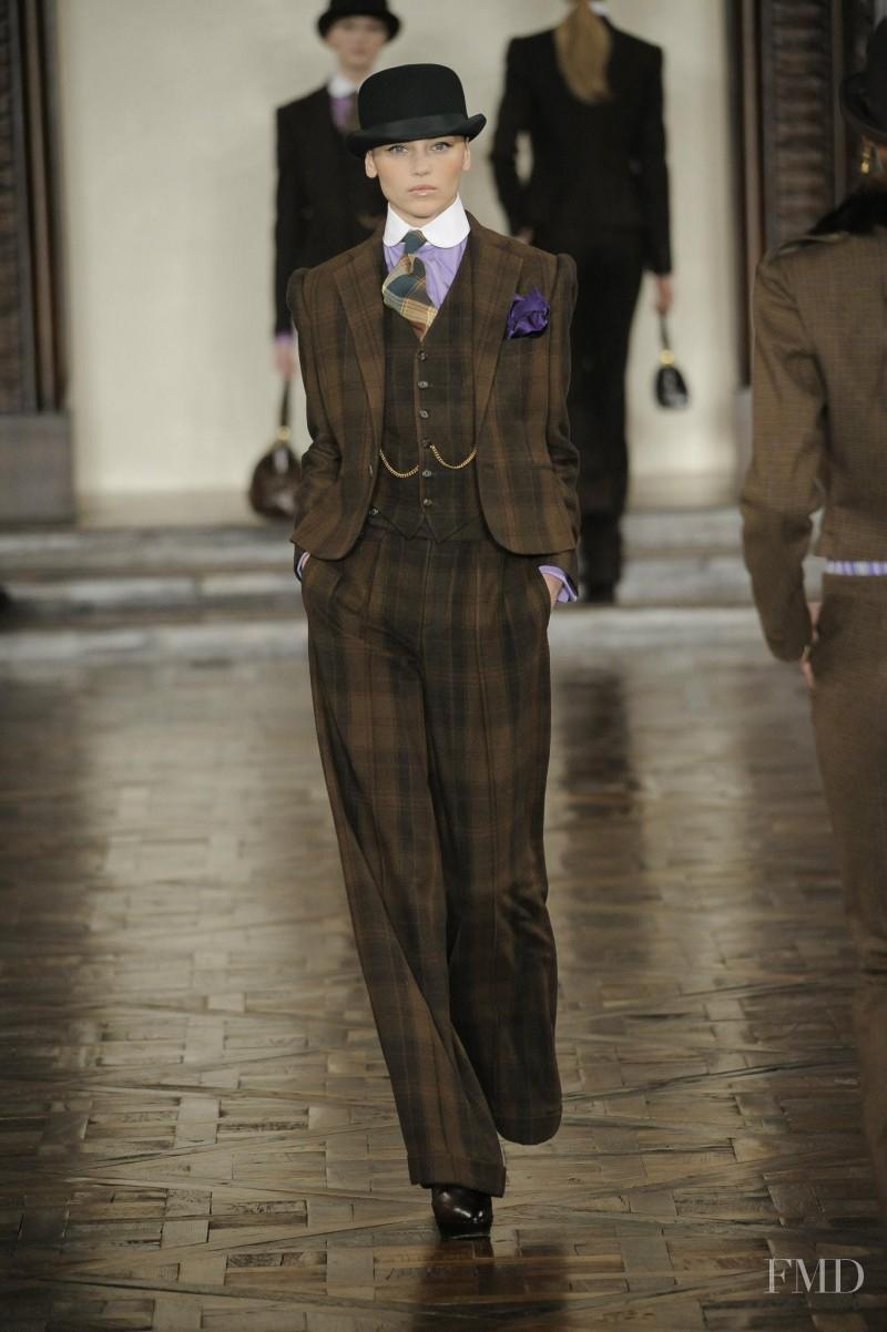 Mila Krasnoiarova featured in  the Ralph Lauren Collection fashion show for Autumn/Winter 2012