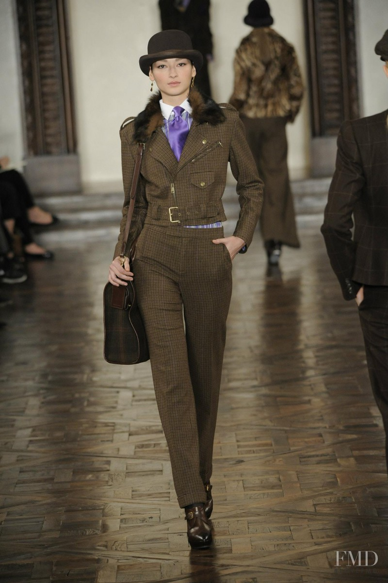 Bruna Tenório featured in  the Ralph Lauren Collection fashion show for Autumn/Winter 2012