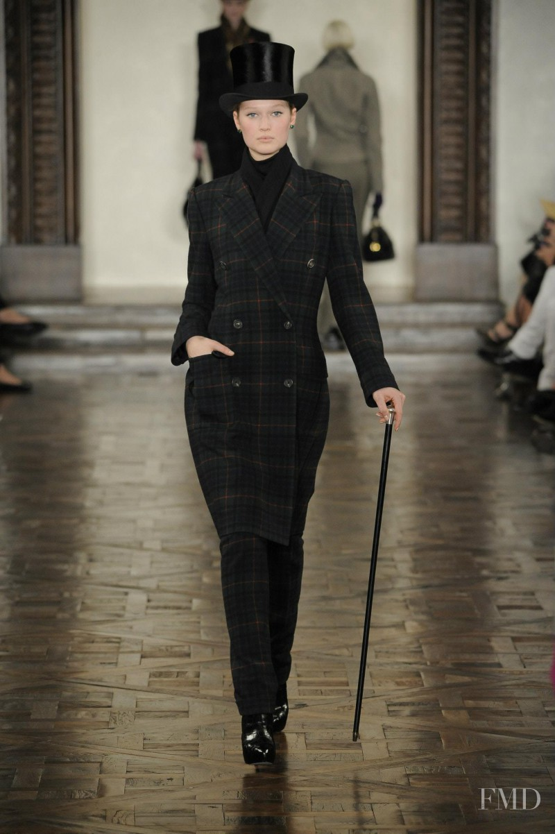 Toni Garrn featured in  the Ralph Lauren Collection fashion show for Autumn/Winter 2012