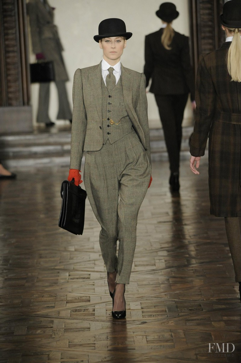 Anastassia Khozissova featured in  the Ralph Lauren Collection fashion show for Autumn/Winter 2012