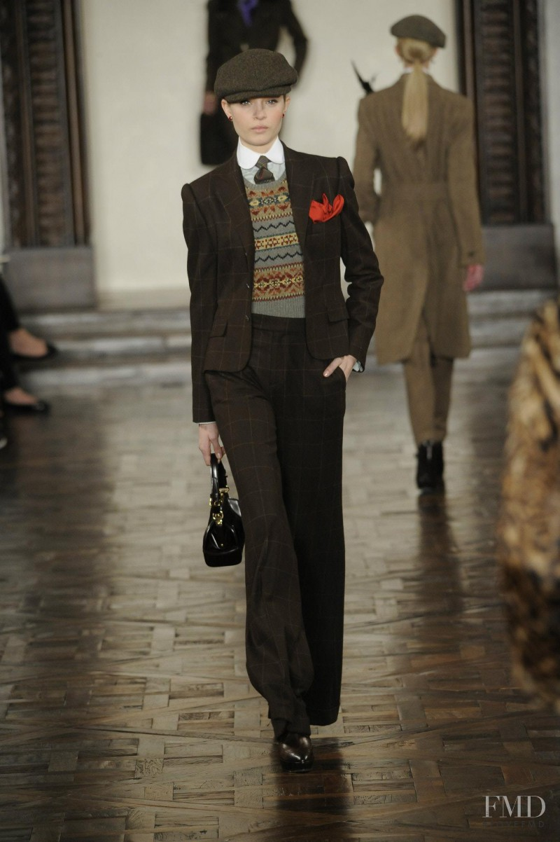 Josephine Skriver featured in  the Ralph Lauren Collection fashion show for Autumn/Winter 2012