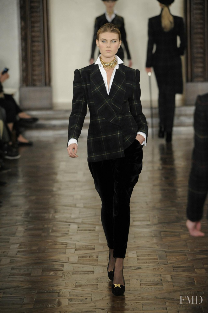 Maryna Linchuk featured in  the Ralph Lauren Collection fashion show for Autumn/Winter 2012
