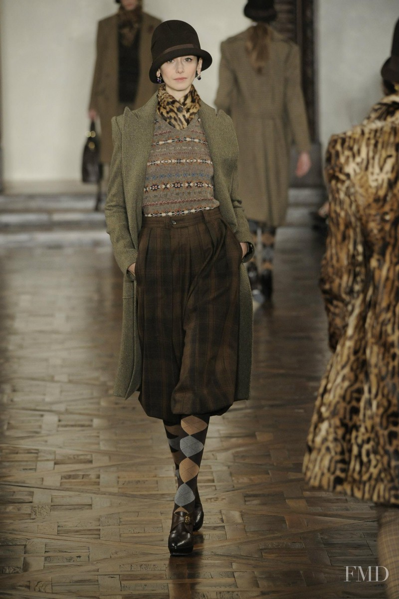 Cecilia Méndez featured in  the Ralph Lauren Collection fashion show for Autumn/Winter 2012