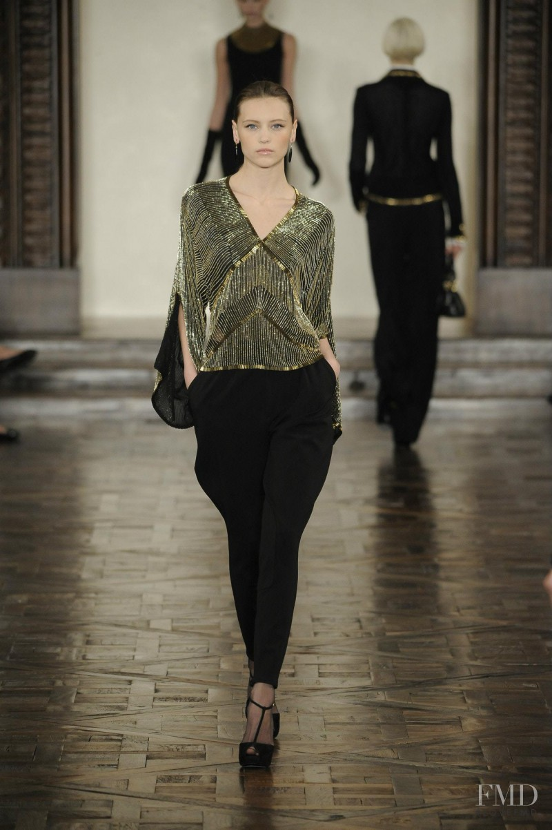 Mila Krasnoiarova featured in  the Ralph Lauren Collection fashion show for Autumn/Winter 2012