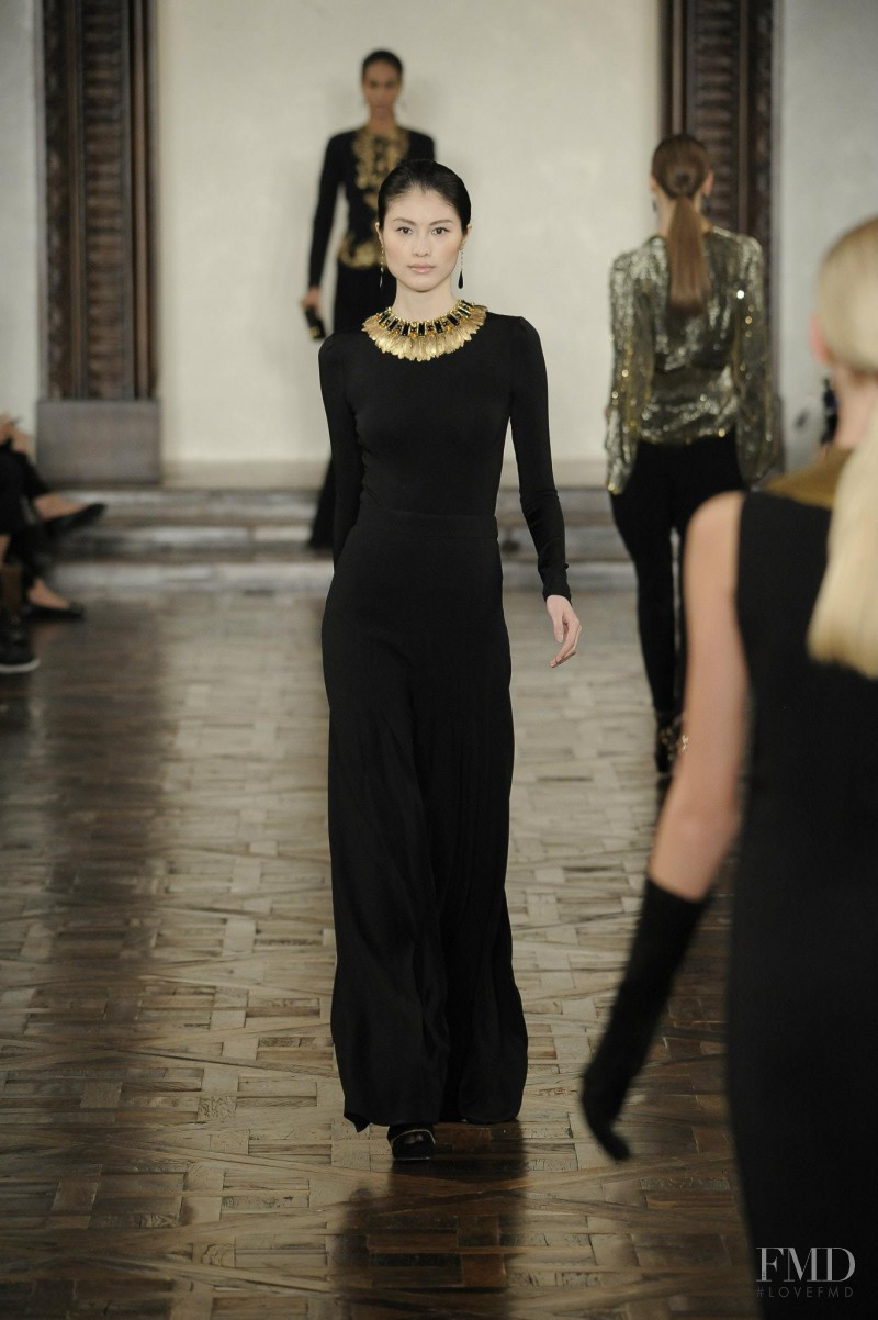 Sui He featured in  the Ralph Lauren Collection fashion show for Autumn/Winter 2012