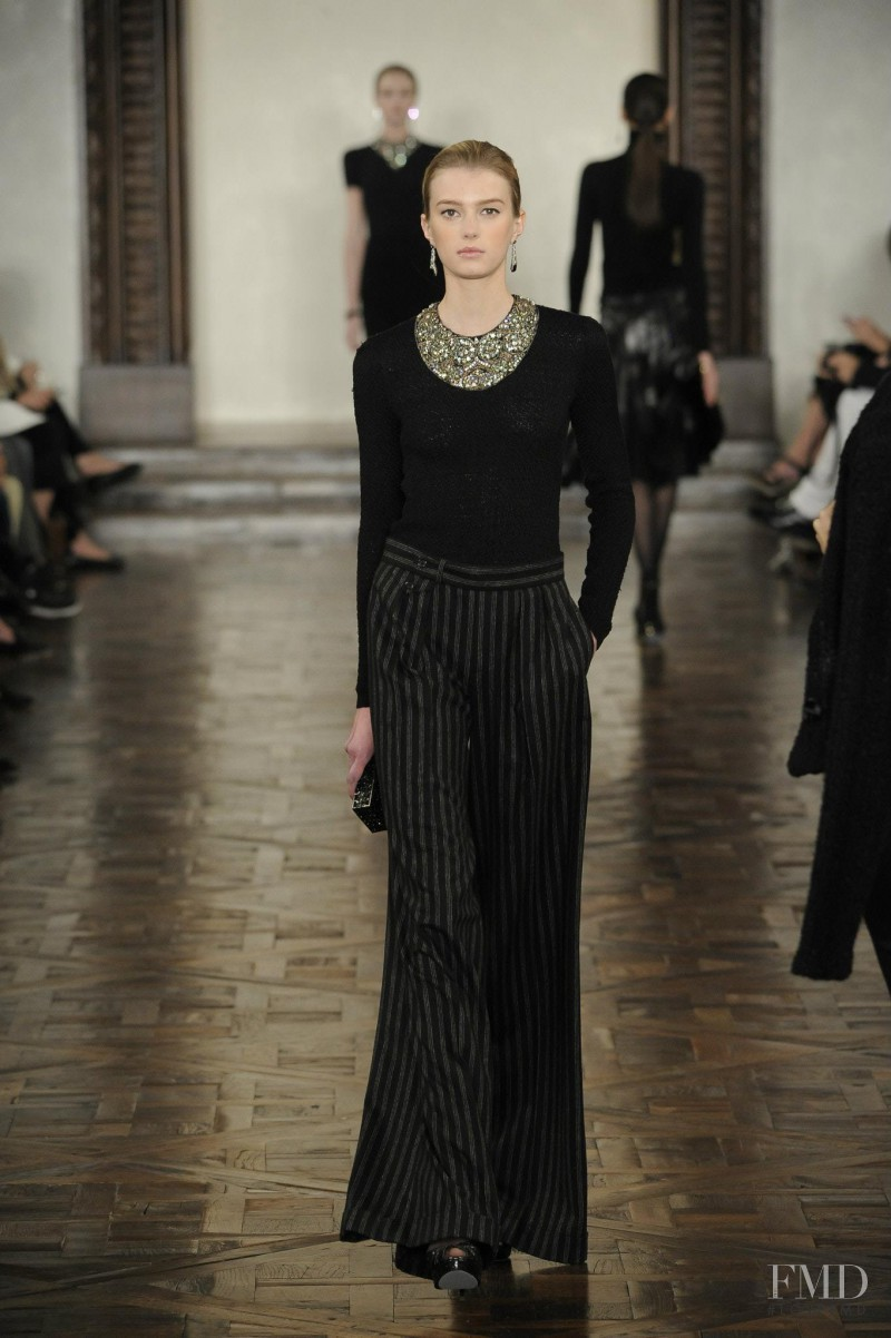 Sigrid Agren featured in  the Ralph Lauren Collection fashion show for Autumn/Winter 2012