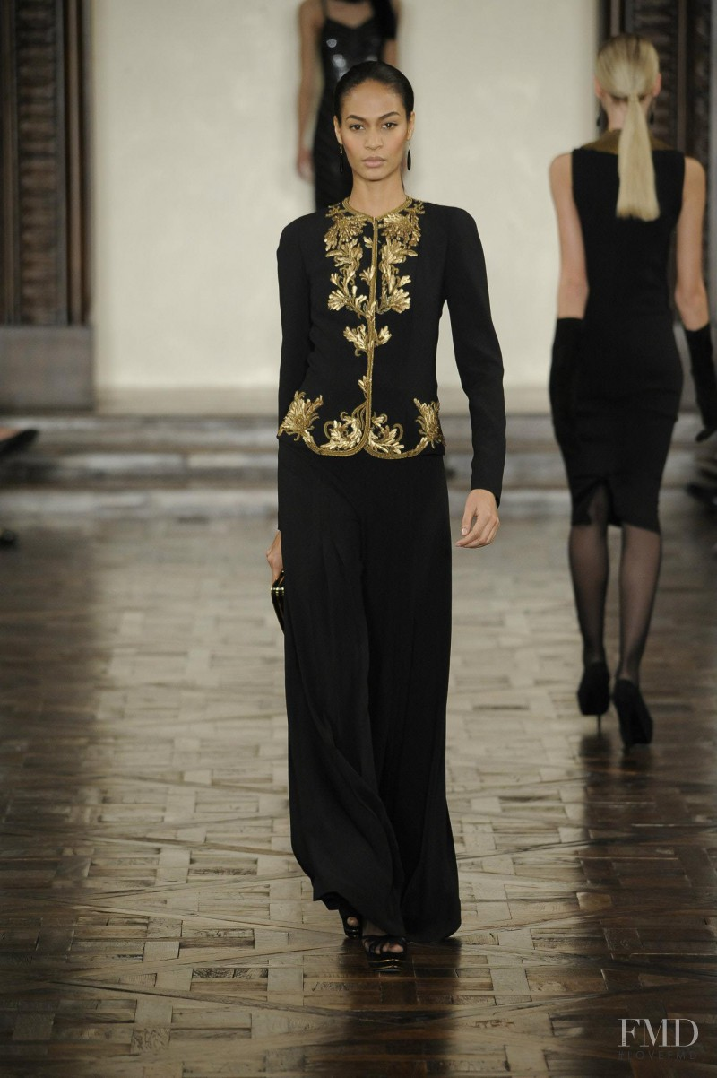 Joan Smalls featured in  the Ralph Lauren Collection fashion show for Autumn/Winter 2012