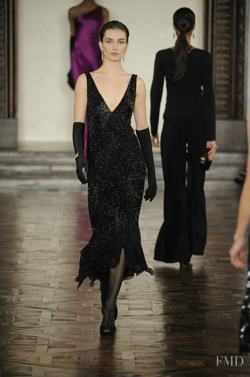 Andreea Diaconu featured in  the Ralph Lauren Collection fashion show for Autumn/Winter 2012