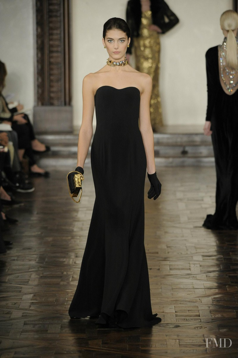 Katryn Kruger featured in  the Ralph Lauren Collection fashion show for Autumn/Winter 2012