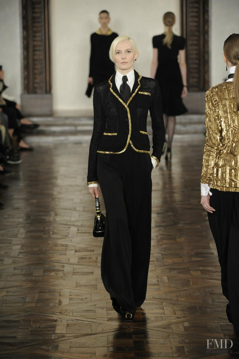Katia Kokoreva featured in  the Ralph Lauren Collection fashion show for Autumn/Winter 2012