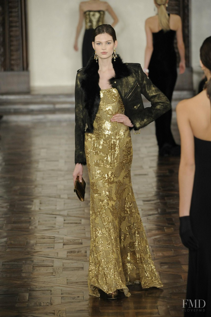 Bette Franke featured in  the Ralph Lauren Collection fashion show for Autumn/Winter 2012
