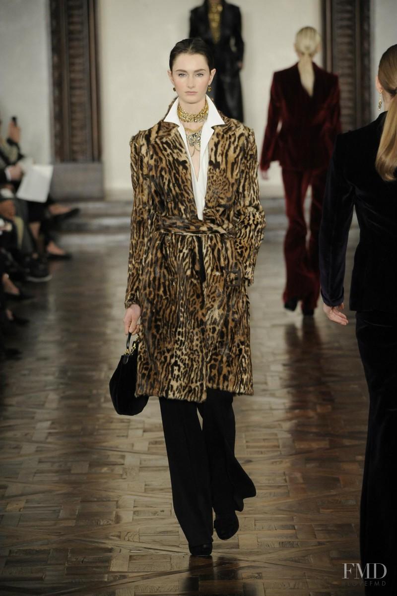 Mackenzie Drazan featured in  the Ralph Lauren Collection fashion show for Autumn/Winter 2012