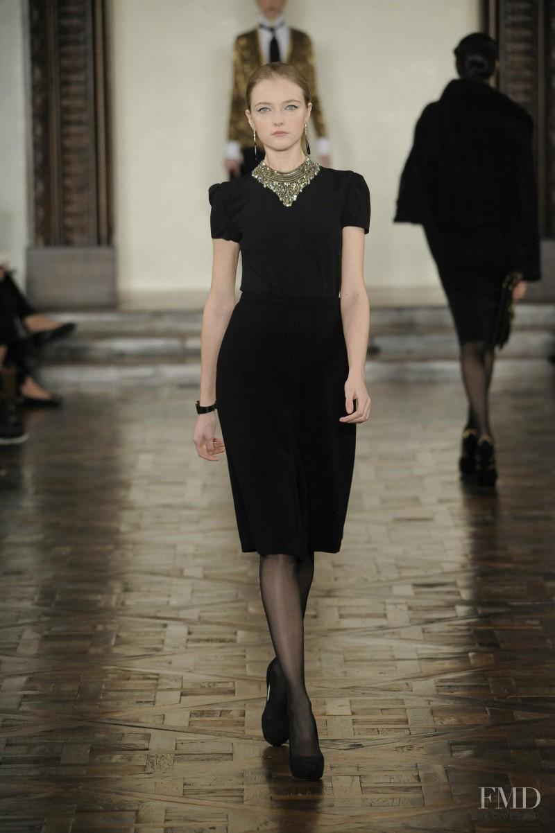 Vlada Roslyakova featured in  the Ralph Lauren Collection fashion show for Autumn/Winter 2012