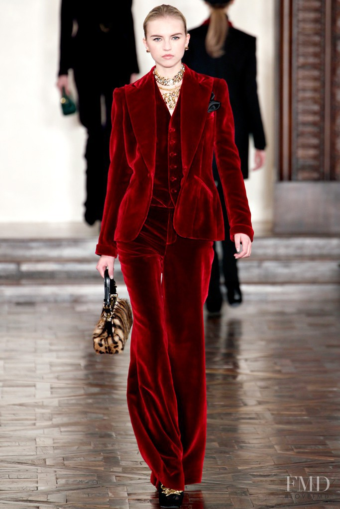 Anabela Belikova featured in  the Ralph Lauren Collection fashion show for Autumn/Winter 2012