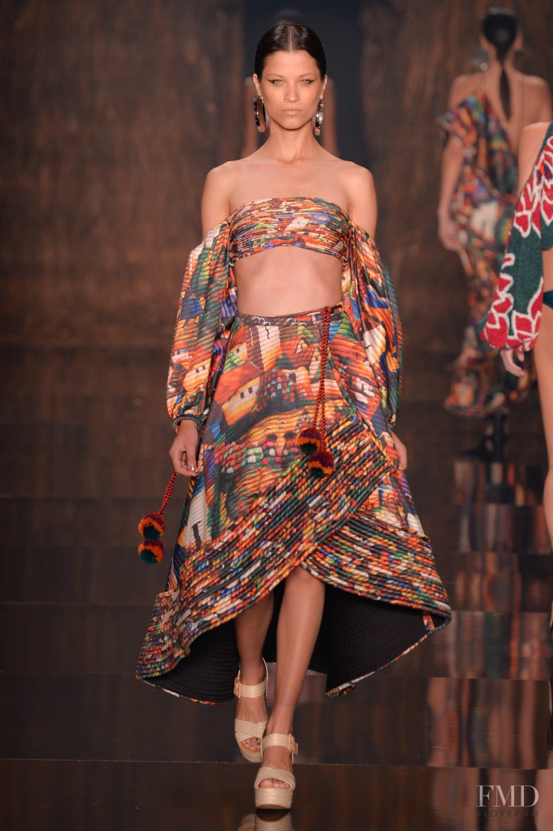 Ari Westphal featured in  the Agua de Coco fashion show for Spring/Summer 2017