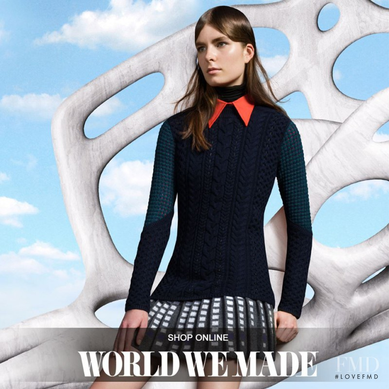 Gaby Loader featured in  the World We Made advertisement for Autumn/Winter 2015