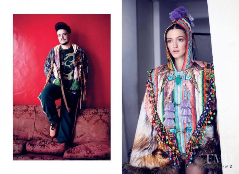 Dana Luz Almada featured in  the BAFWeek lookbook for Spring/Summer 2014