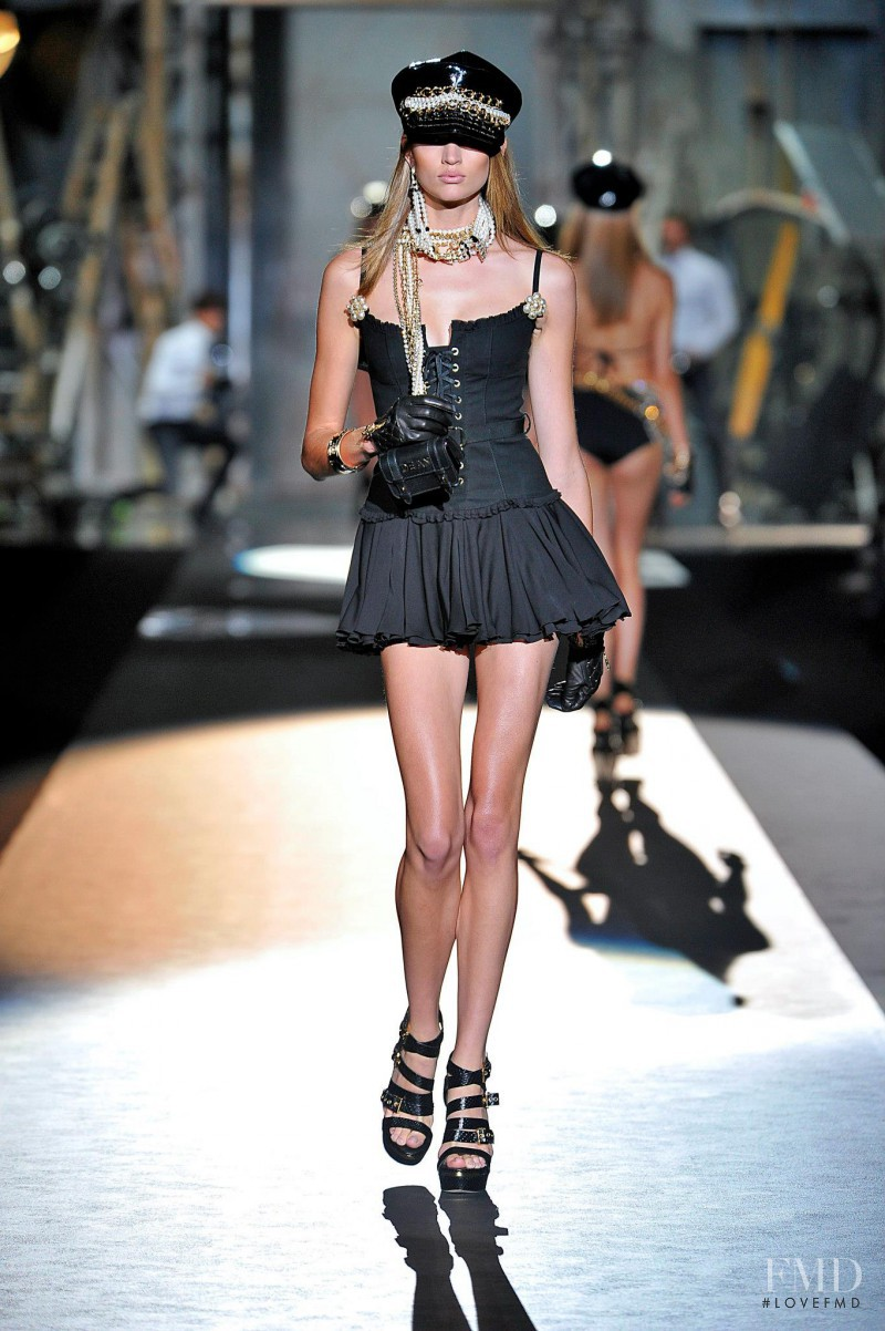 Bette Franke featured in  the DSquared2 fashion show for Spring/Summer 2013
