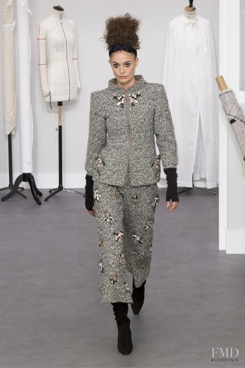 Nadja Bender featured in  the Chanel Haute Couture fashion show for Autumn/Winter 2016