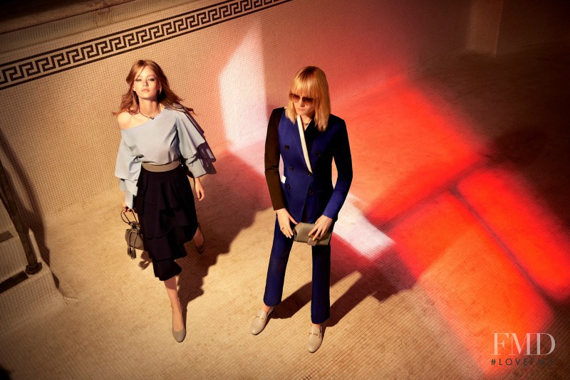 Hollie May Saker featured in  the Charles & Keith advertisement for Autumn/Winter 2016