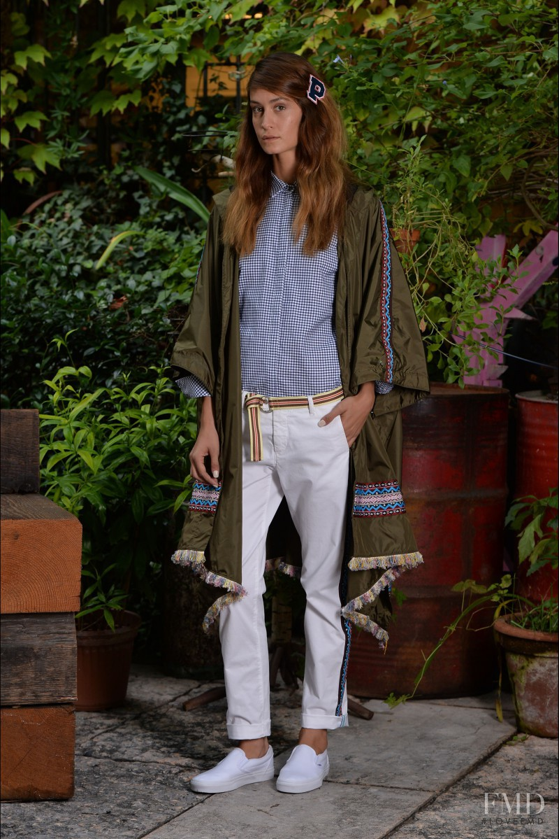 Helena Prestes featured in  the Peuterey fashion show for Spring/Summer 2015