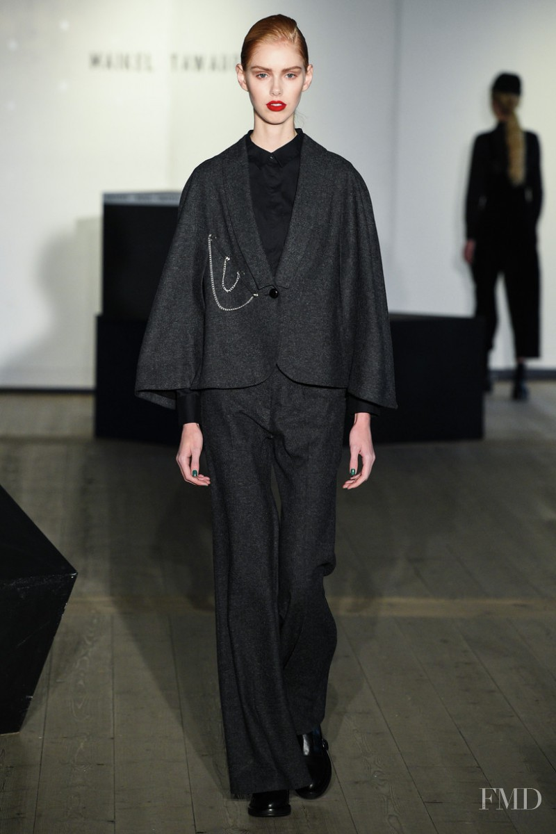 Lululeika Ravn Liep featured in  the Maikel Tawadros fashion show for Autumn/Winter 2016