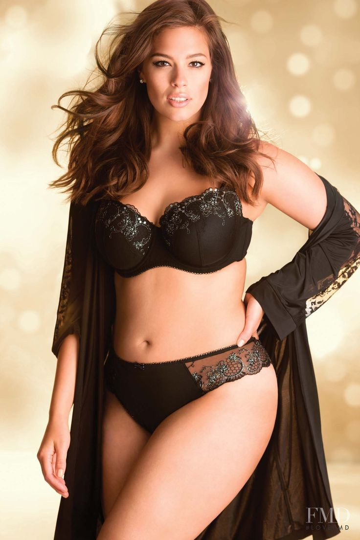 Ashley Graham featured in  the Addition Elle catalogue for Autumn/Winter 2014