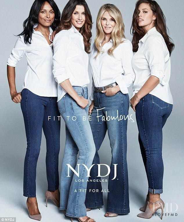 Ashley Graham featured in  the NYDJ advertisement for Spring/Summer 2016
