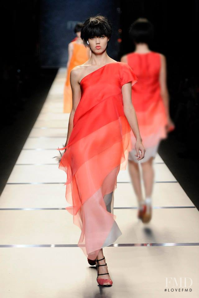 Lindsey Wixson featured in  the Fendi fashion show for Spring/Summer 2014