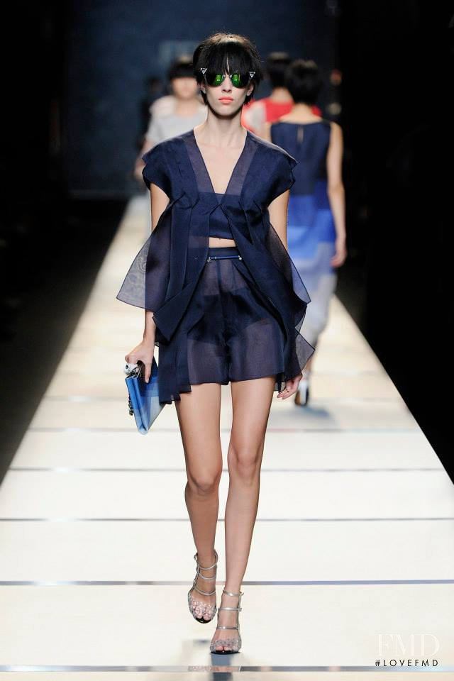 Juliana Schurig featured in  the Fendi fashion show for Spring/Summer 2014