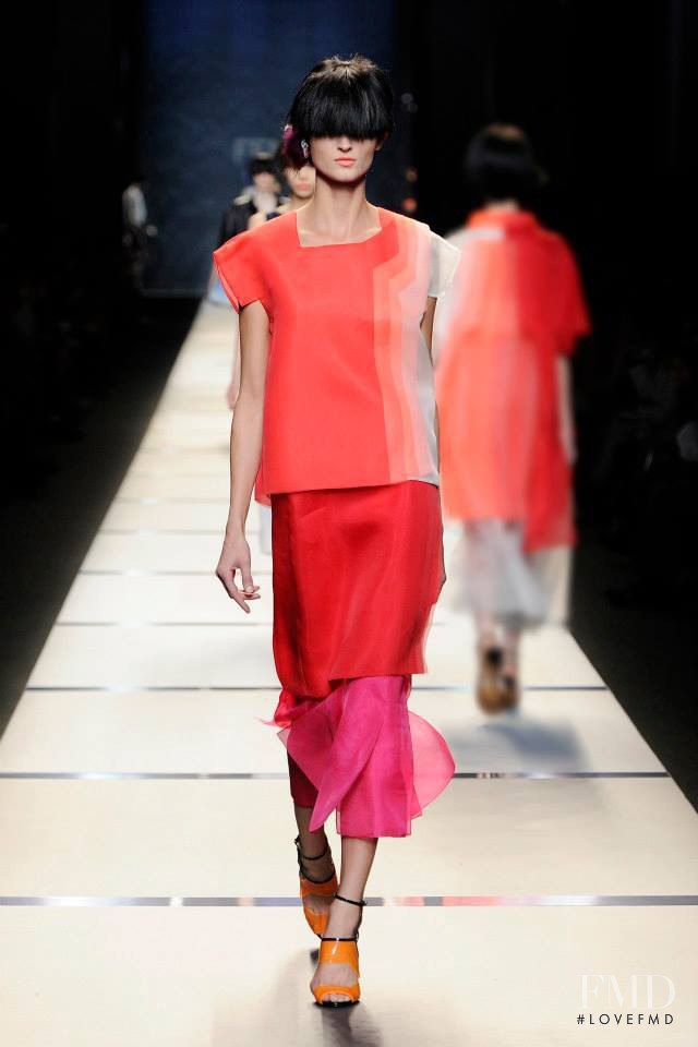 Charlotte Hoyer featured in  the Fendi fashion show for Spring/Summer 2014