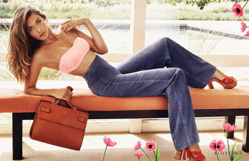 Grace Elizabeth featured in  the Guess Accessories lookbook for Spring/Summer 2016