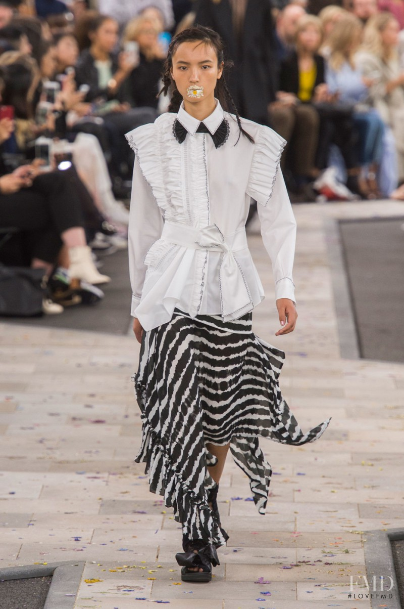 Luping Wang featured in  the Preen by Thornton Bregazzi fashion show for Spring/Summer 2016