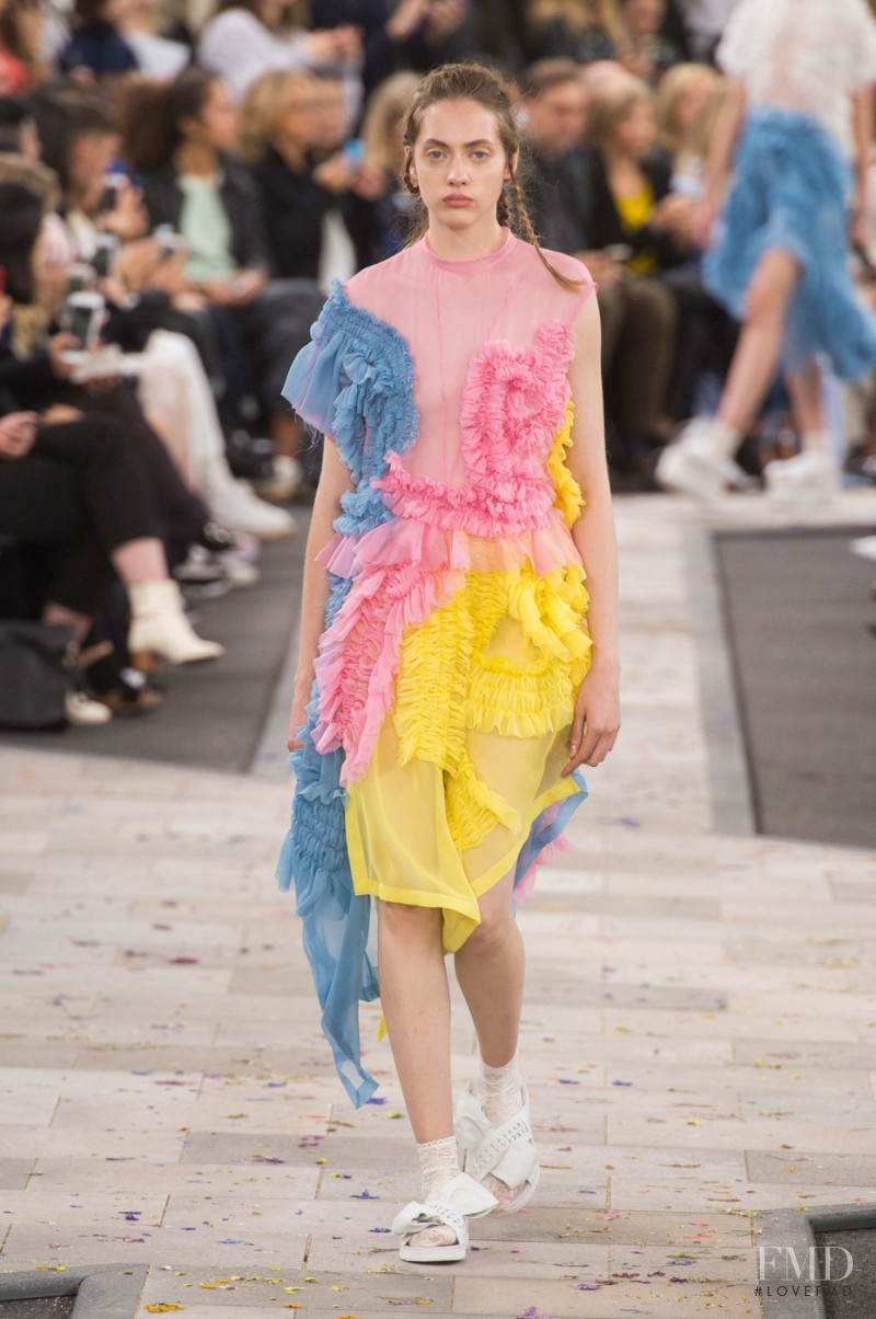 Odette Pavlova featured in  the Preen by Thornton Bregazzi fashion show for Spring/Summer 2016