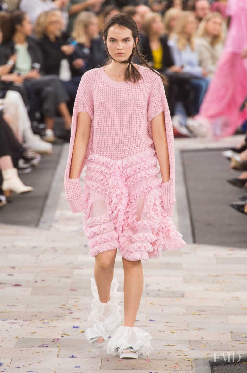 Lily Stewart featured in  the Preen by Thornton Bregazzi fashion show for Spring/Summer 2016