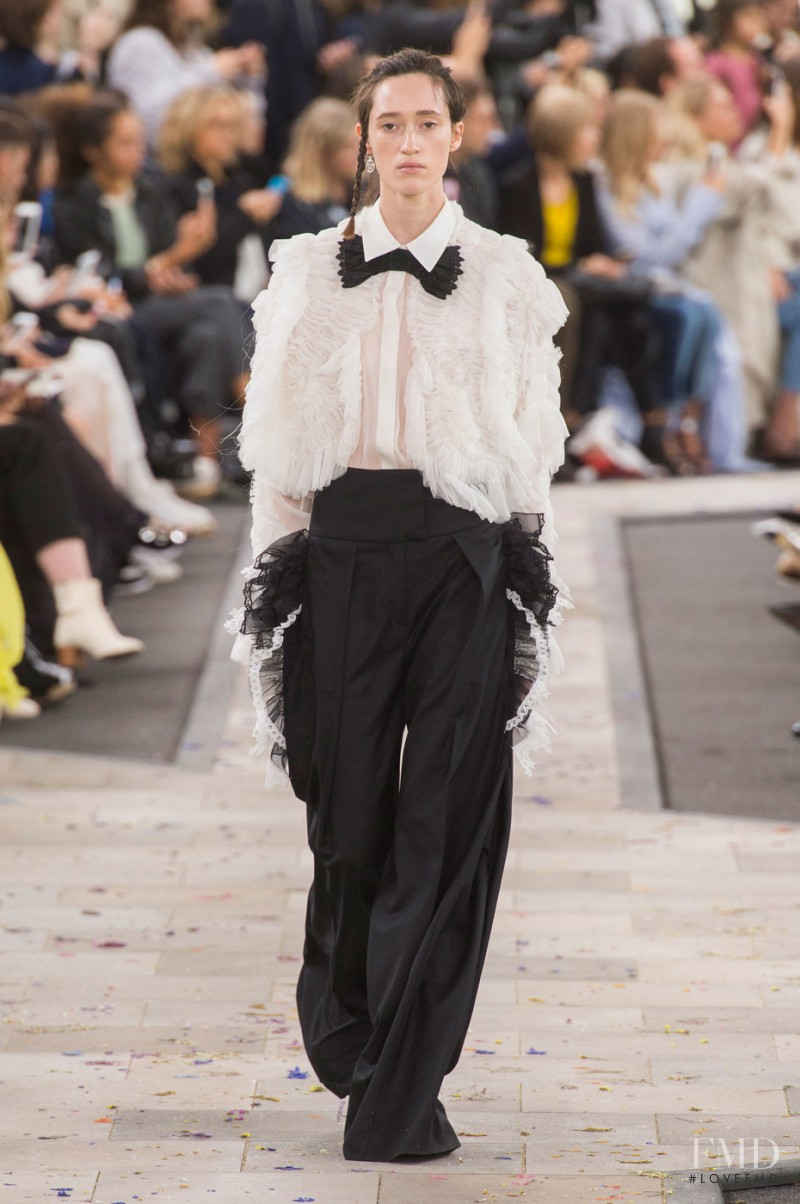 Helena Severin featured in  the Preen by Thornton Bregazzi fashion show for Spring/Summer 2016