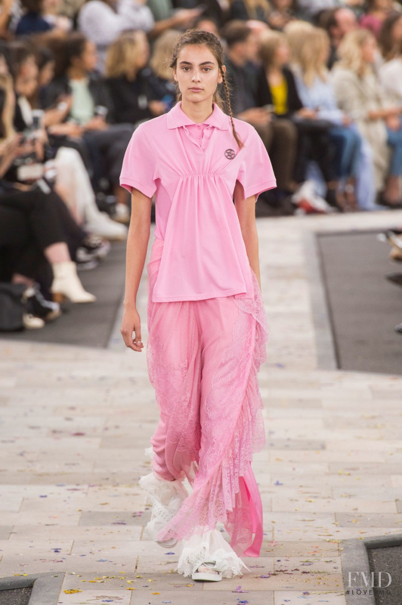 Romy Schönberger featured in  the Preen by Thornton Bregazzi fashion show for Spring/Summer 2016