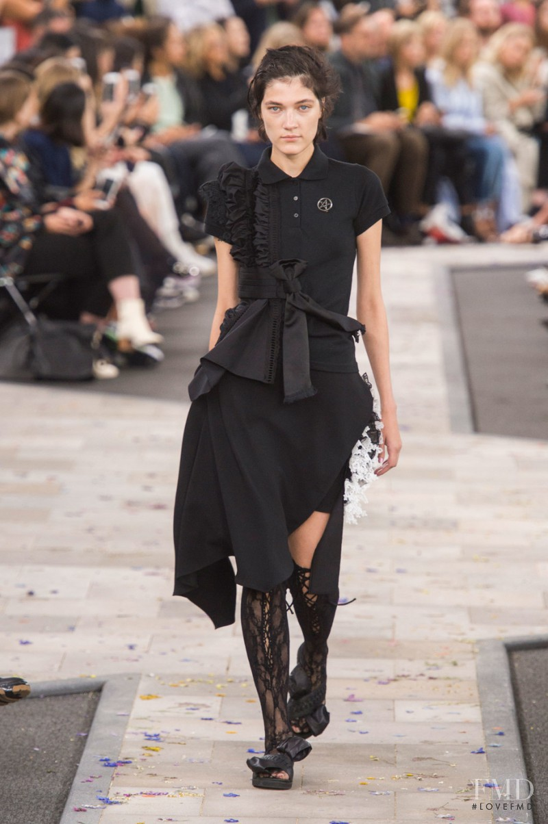Liene Podina featured in  the Preen by Thornton Bregazzi fashion show for Spring/Summer 2016