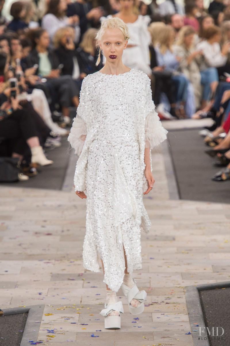 Cheyenne Keuben featured in  the Preen by Thornton Bregazzi fashion show for Spring/Summer 2016