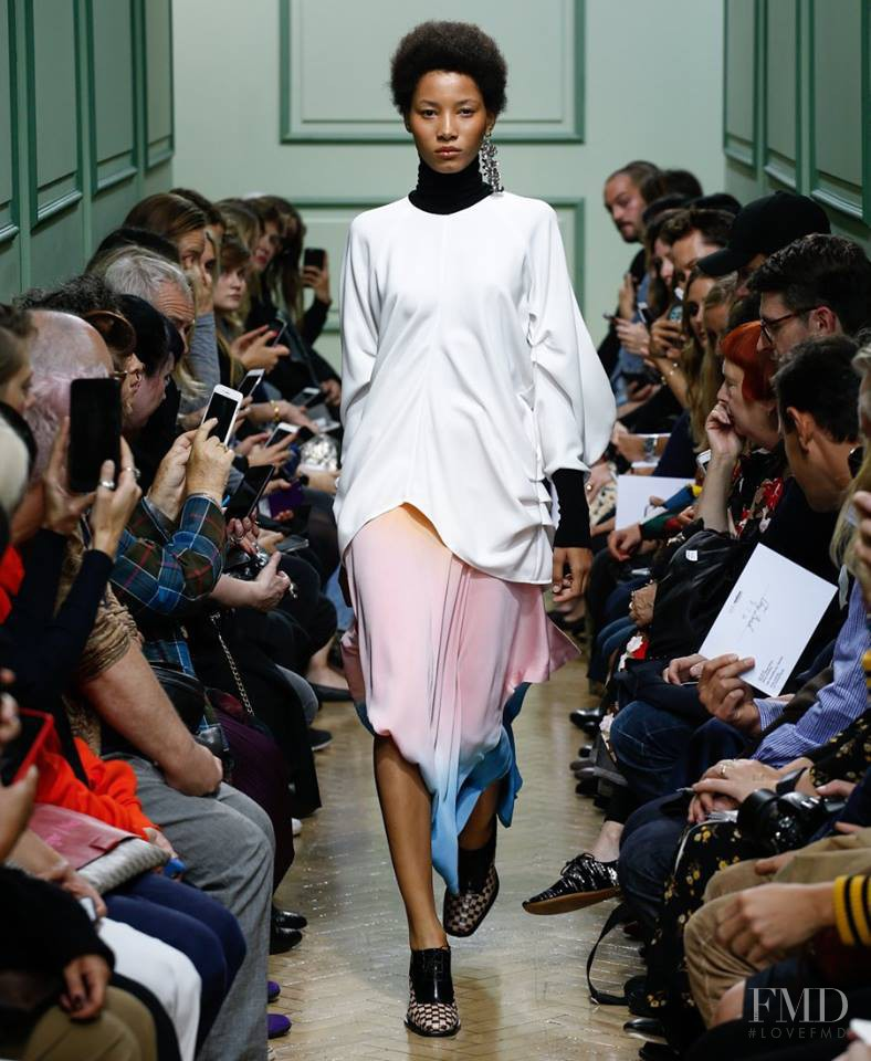 Lineisy Montero featured in  the J.W. Anderson fashion show for Spring/Summer 2017