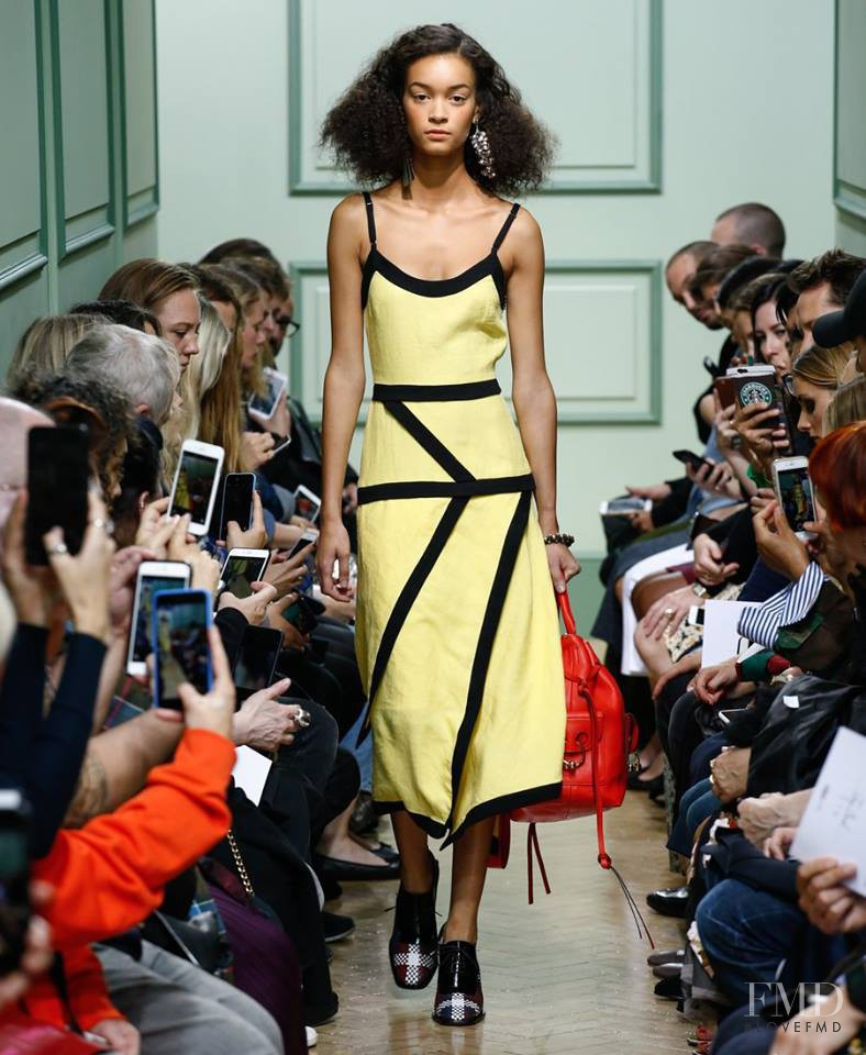 Noemie Abigail featured in  the J.W. Anderson fashion show for Spring/Summer 2017