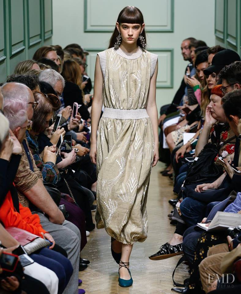 Yuliia Ratner featured in  the J.W. Anderson fashion show for Spring/Summer 2017