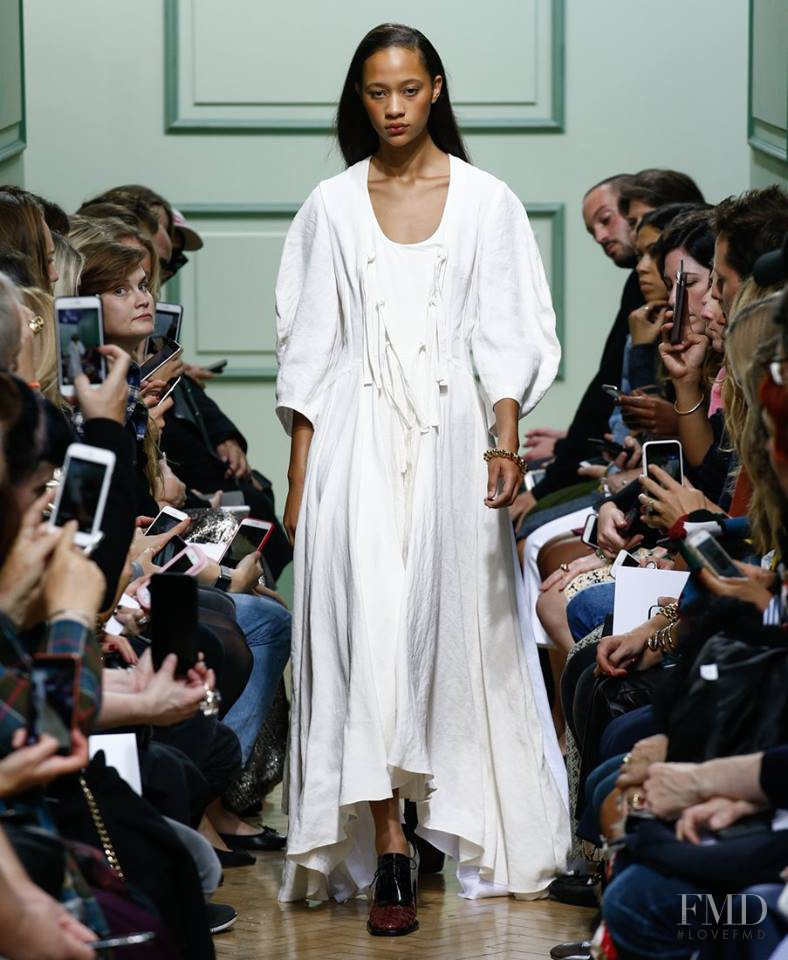 Selena Forrest featured in  the J.W. Anderson fashion show for Spring/Summer 2017