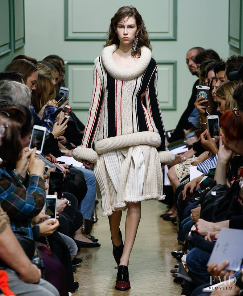Lorena Maraschi featured in  the J.W. Anderson fashion show for Spring/Summer 2017