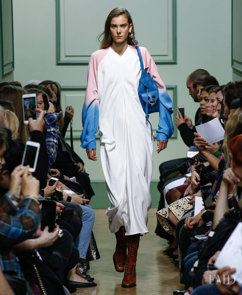 Phillipa Hemphrey featured in  the J.W. Anderson fashion show for Spring/Summer 2017