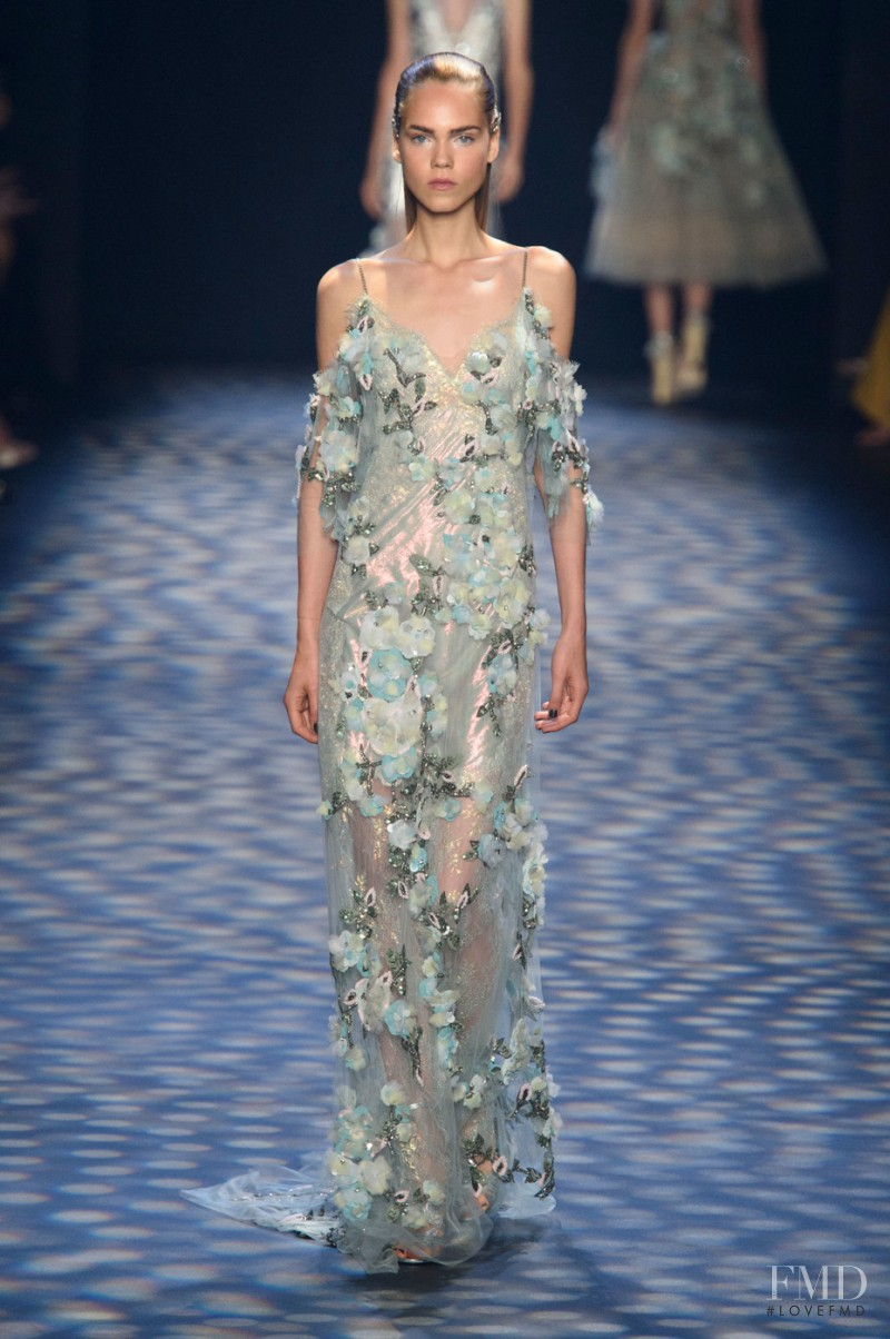 Line Brems featured in  the Marchesa fashion show for Spring/Summer 2017