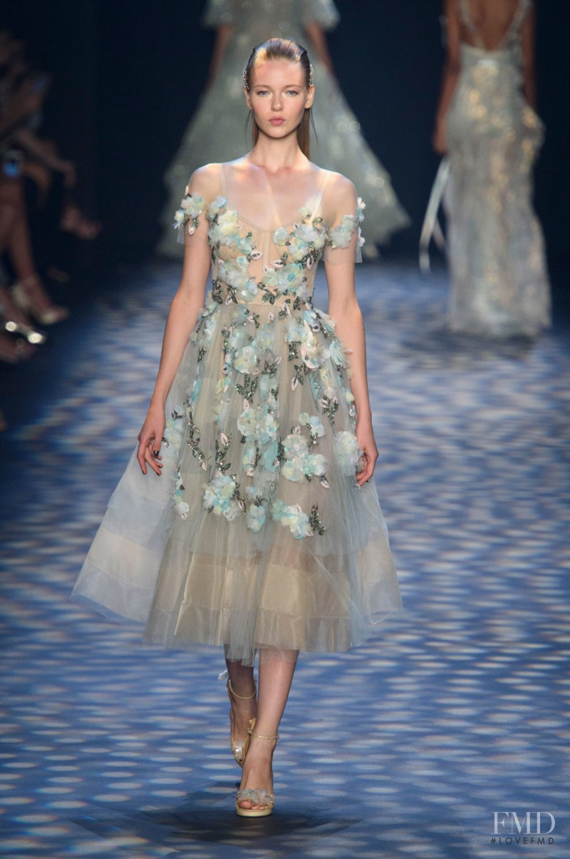 Katya Ledneva featured in  the Marchesa fashion show for Spring/Summer 2017