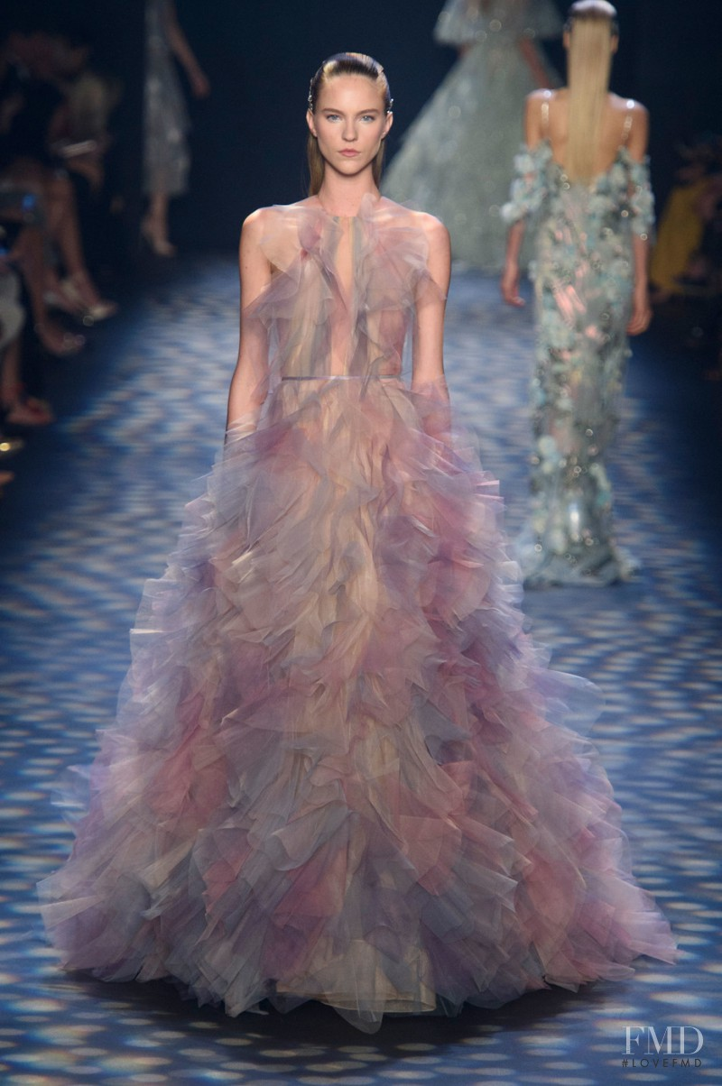 Nicole Pollard featured in  the Marchesa fashion show for Spring/Summer 2017