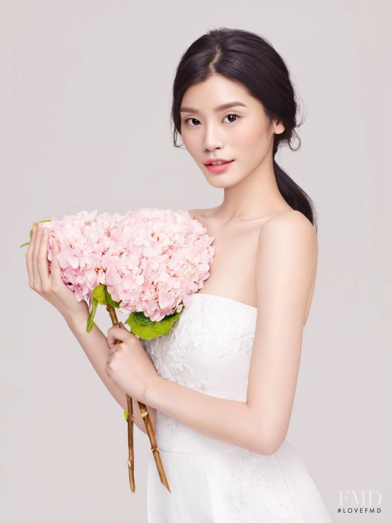 Ming Xi featured in  the Herborist advertisement for Spring/Summer 2016